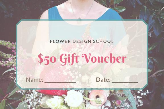 Floristry gift voucher
